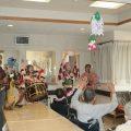 高齢者施設夏祭りに三ヶ根宣伝社が訪問
